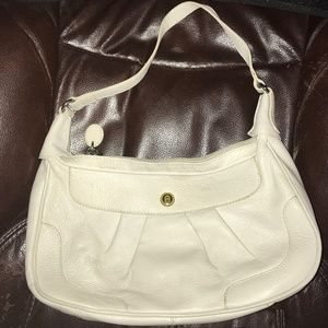 Etienne Aigner Leather Medium White Purse